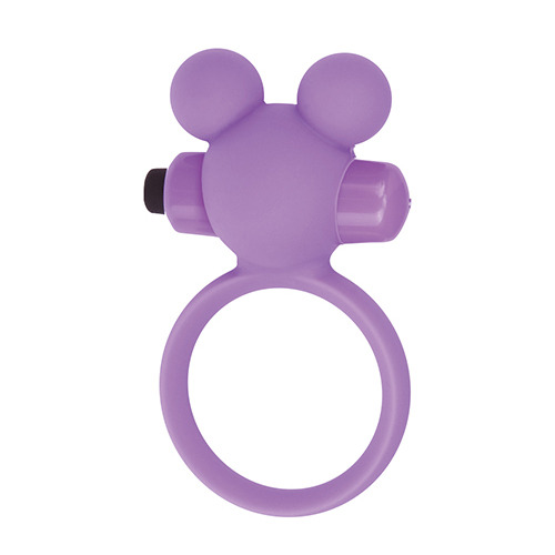 Silicone Teddy Cockring Purple